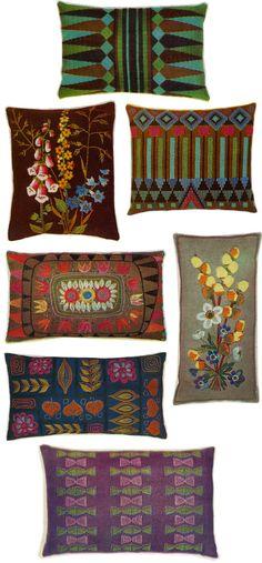 Vintage Craft Inspiration – 1962 Interior Design Details..CUSHIONS & MATS