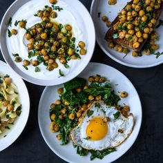 Herbed Chickpeas - use these as a multi-purpose kitchen staple. Toss with wilted greens and serve with a fried egg, spoon over greek yogurt, top toast, or make a light noodle soup into a hearty meal.