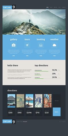 Simplified, tiled, good contrast, not the best design but has nice elements -- Travel website