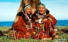 Koryak couple, Kamchatka peninsula, Russia