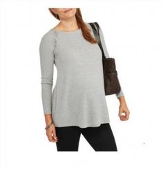 16.81$  Watch now - http://viqxr.justgood.pw/vig/item.php?t=s20vts51428 - Faded Glory Maternity Fashion Thermal Tunic W/Lace Back, Grey Heather, XXL 16.81$