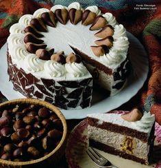 Hungarian Cake, Hungarian Recipes, No Bake Desserts, Vegan Desserts, Cupcake Recipes, Cookie Recipes, Chocolate Oreo Cake, Torte Cake, Sweet And Salty