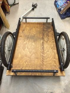 Recycled bike trailer