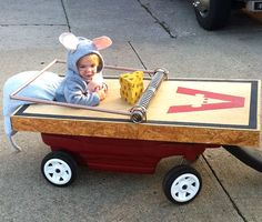 Bhahaha! I love costumes that incorporate rolling a younger baby around - maybe 2nd halloween for this one :)