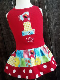 PERSONALIZED Name and Number Sesame Street Elmo by RNBDesignz, $34.95