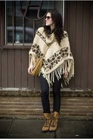vintage poncho - Google Search... i am on the hunt for the perfect poncho. looks so cozy!