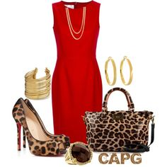 """""""red Hot Leopard-Dress Up Contest"""" by trinisugar on Polyvore"""