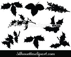 Christmas Leaf Vector Graphics Download
