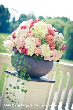 Vineland Estates Winery // Wedding Ceremony Flowers Altar Arrangement