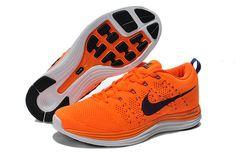 Nike Flyknit Lunar One Men's Running Shoes Orange/Blue