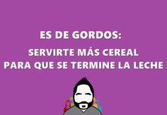 Es de gordos, humor dedicado a los que amamos comer.  #esdegordos #creatividad #humor #diseño
