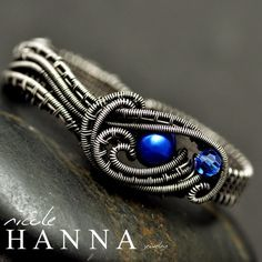 Blue Pearl Two Finger Knot Ring from Nicole Hanna Jewelry