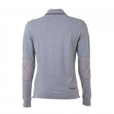 Long sleeve polo shirt, grey