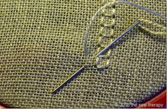 THE SEW THERAPY: PUNTO ANTICO - TUTORIAL 1 Drawn Thread, Cut Work, Bargello, Rococo, Blackwork, Embroidery Patterns, Patches, Beige, Stitch