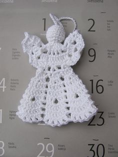 Best 12 Crochet angel Christmas ornament Home decor Crochet Christmas Decorations, Crochet Ornaments, Christmas Crochet Patterns, Holiday Crochet, Crochet Snowflakes, Christmas Crafts For Gifts, Crochet Gifts, Christmas Angels, Free Crochet