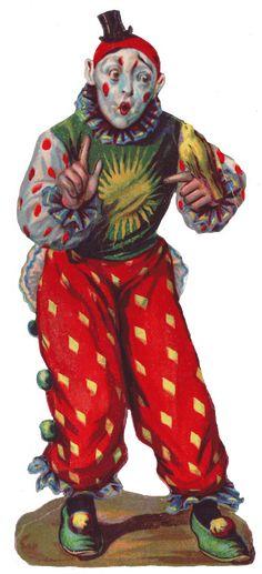 Glanzbilder I Victorian Die Cut I Victorian Scrap I Glansbilleder - Plaatjes Circus Poster, Circus Art, Circus Clown, Circus Theme, Circus Room, Le Clown, Creepy Clown, Vintage Images, Vintage Posters