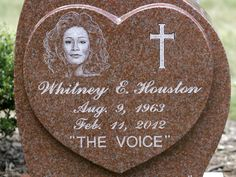 Singer Whitney Houston died tragically in a hotel bathtub after consuming disabling substances. Houston's grave is located next to her father John Houston's resting place at Fairview Cemetery in Westfield, New Jersey Cemetery Monuments, Cemetery Headstones, Old Cemeteries, Cemetery Art, Graveyards, Beverly Hills, Famous Tombstones, Famous Graves, Julius Caesar
