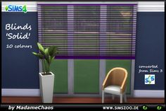 Blinds Solid by MadameChaos at Blacky's Sims Zoo via Sims 4 Updates