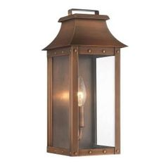 Acclaim Lighting, Manchester Collection 1-Light Copper Patina Outdoor Wall Lantern, 8413CP at The Home Depot - Mobile