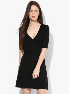 Buy French Connection Black Coloured Solid Shift Dress for Women Online India, Best Prices, Reviews | FR332WA97IHAINDFAS