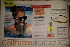 Parution presse Public  - Semaine du 10 août 2012 -    #headband #cheveux #tresse #hairstyle