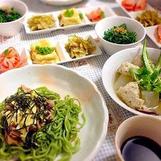 先付は揚げ出し豆腐、冬瓜の皮のきんぴら、おかひじきのお浸しなど - 15件のもぐもぐ - 冬瓜と肉団子スープと瓦そばなど by lilyzumik