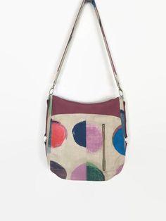 Large Shoulder Bag, Large Hobo Bag, Multi-Coloured Fabric Bag by BeesAttic on Etsy # shoulderbag Floral Shoulder Bags, Large Shoulder Bags, Mother's Day, Handmade Purses, Large Bags, Hobo Bag, Wallets For Women, Bag Making, Ipod