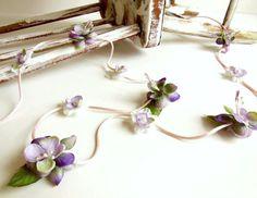 Flower Garland Handmade Floral Garland Purple by PoshEnfant