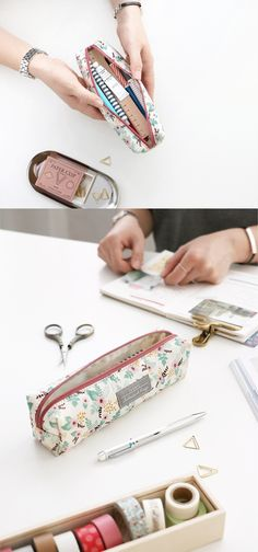 This sweet & simple pen case is absolutely gorgeous & it can fit about 20 pens or pencils! Sometimes simple is beautiful~