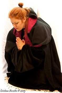 Made to order - Inquisitor Priest Clerical Outfit  Velvet Damask and wool Designed by Dreamcatcher Eye Creations