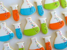 Beaker and Test Tube Cookies