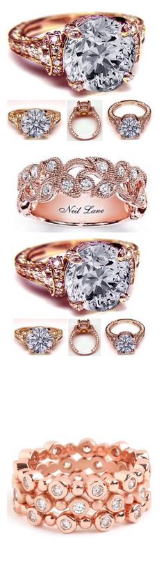 Rose Gold & Diamonds LBV// Ok these rings are superbb Ring Set, Love Ring, Dream Ring, Pretty Rings, Beautiful Rings, Diamond Rings, Diamond Jewelry, Wedding Jewelry, Wedding Rings