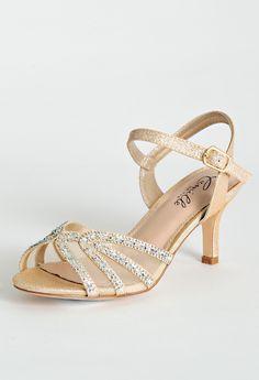 Sparkle and Rhinestone Ankle Strap Sandal