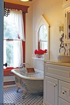 * cute cottage bathroom