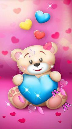 58 ideas for wall paper phone design valentines day Teddy Bear Drawing, Teddy Bear Cartoon, Cute Bear Drawings, Cute Teddy Bears, Flowery Wallpaper, Bear Wallpaper, Butterfly Wallpaper, Love Wallpaper, Alphabet Wallpaper
