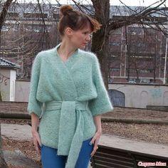 Жакет-кимоно спицами - Вязание - Страна Мам