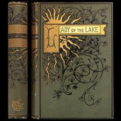 1892 SIR WALTER SCOTT POETRY ILLUSTRATED VICTORIAN FINE BINDING LADY OF THE LAKE