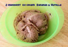 Frozen bananas + nutella= ice cream!!