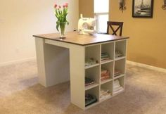 DIY craft table desk