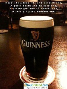 Drink Guinness in Irish pub Malta, Drinking Toasts, Guiness Beer, Guinness Ireland, Irish Toasts, Irish Drinks, Irish Eyes Are Smiling, Irish Quotes, Irish Blessing