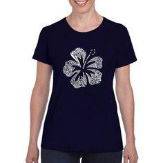 Los Angeles Pop Art Women's Mahalo T-Shirt, Size: Medium, Blue
