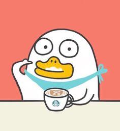 小刘鸭 Cartoon Memes, Cartoon Pics, Cute Cartoon Wallpapers, Cartoons, Kawaii Stickers, Funny Stickers, Stupid Pictures, Funny Duck, Quack Quack