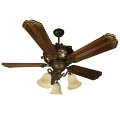 Craftmade Toscana Tuscan Ceiling Fan with Integrated Lighted Body and Custom Blade Options $330