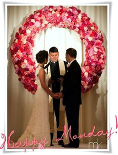 Huge Wreath as Backdrop,fun with it around a mirror