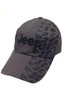 Jeep Hat w/Weathered Tire Track Design Print