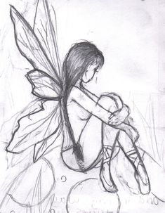 side facing fairy | Easy Fairy Girl Face Drawing 25+ Best Ideas About Fairy Drawings On Pinterest | Beautiful Girl ...