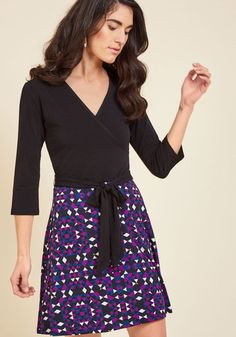 Wrap of Luxury A-Line Dress in Kaleidoscope, @ModCloth