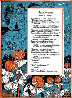 Fancy Pumpkin Head People---Vintage Child Life Magazine Halloween Illustration - In the Light of the Moon - Halloween Retro, Halloween Poems, Vintage Halloween Cards, Samhain Halloween, Halloween Artwork, Halloween Pictures, Vintage Holiday, Holidays Halloween, Halloween Crafts