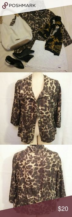 Peck&Peck jacket sz.M 8-10 Peck&Peck jacket sz.M  Excellent used condition like new  Lightweight jacket with cropped sleeves Looks and feels silky. Peck&Peck  Jackets & Coats