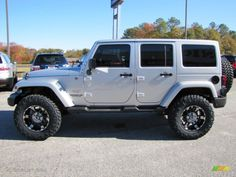 Looking to customize your Jeep? We carry a wide variety of Jeep accessories including dash kits, window tint, light tint, wraps and more. Jeep Jk, 2012 Jeep Wrangler, Jeep Wrangler Sahara, Jeep Rubicon, Jeep Truck, Jeep Wrangler Silver, Sahara Jeep, Jeep Store, Silver Jeep